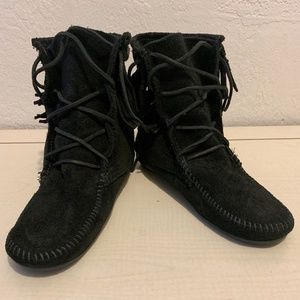 Minnetonka Fringe Booties